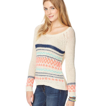 Fair Isle Ribbon Sweater