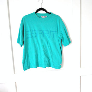 90s grunge teal ESPRIT relaxed loose fit t shirt