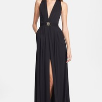 Versace Collection V-Neck Gown