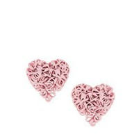 ASOS | ASOS Squiggle Heart Stud Earrings at ASOS