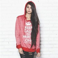 KEEP CALM AND PARTY ON Unisex Hood Sweatshirt