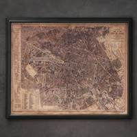 Circa 1883 Paris Map | Maps | Restoration Hardware