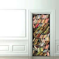 Trompe L&#x27;oeil Doors Books Stacks - Koziel by Couture Dco