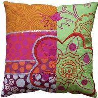Koko Company Kaleidoscope Patchwork pillow by Couture Déco