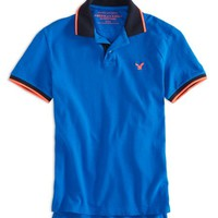 AEO Men's Factory Tipped Polo
