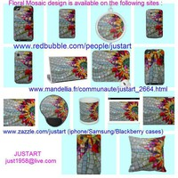 Floral Mosaic Design on Zazzle/Redbubble/Mandellia ~ JUSTART