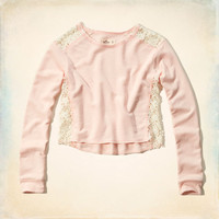 Wheeler Springs Lace Trim Sweatshirt