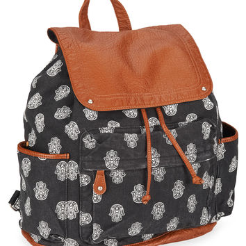 Aeropostale Womens Hamsa Backpack - Black, One