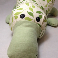 Platypus plush / stuffed animal toy / green pattern platypus