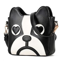Cartoon dog shoulder bag