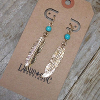 LIGHT AS A FEATHER EARRINGS - GOLD – LaRue Chic Boutique