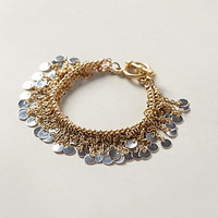 Sequin Flutter Bracelet by Anthropologie Gold One Size Bracelets
