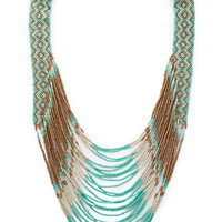 Bold and Boho Beaded Necklace