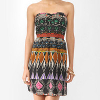 Tribal Print Sweetheart Dress