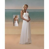 Chiffon Sweetheart One-Shoulder Strap  2012 Empire Wedding Dress - Basadress.com