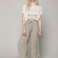 Free People Womens Wrapped Crop Wideleg - Dusty Jade,