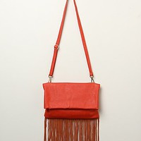 Urban Originals Womens Topanga Fringe Crossbody - Red, One