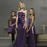 Buy discount Stunning Satin Strapless  Bridesmaid Dress at dressilyme.com