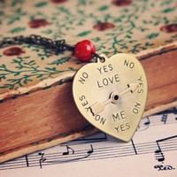 He Loves Me He Love Me Not Necklace by violetbella on Etsy