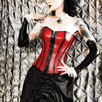 TRANSYLVANIAN CONCUBINE FAUX LEATHER CORSET