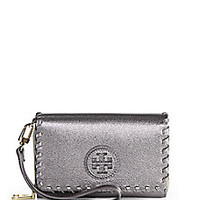 Tory Burch - Marion Envelope Metallic Smartphone Wallet - Saks Fifth Avenue Mobile