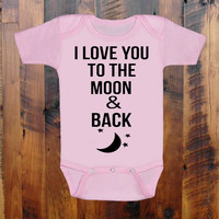 I Love you More Than Pizza. baby clothing Baby Shower gift. baby announcement. Moon and Stars. Baby Onezee. creeper, bodysuit.baby blue