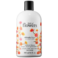 Philosophy Field of Flowers Wildflower Blossom Shampoo, Shower Gel & Bubble Bath (16 oz)