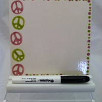 Ceramic Tile Dry Erase Message Board  Peace by ShadyLaneCeramics