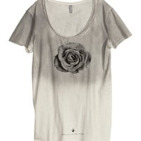 H&M - Overdyed T-shirt - Light gray - Men