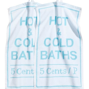 H&M - 2-pack Guest Towels - Light turquoise