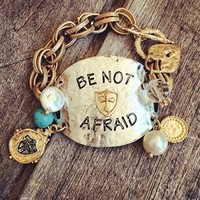 Be Not Afraid Gold Link Bracelet ORIG $25.98 DEAL OF THE DAY!!