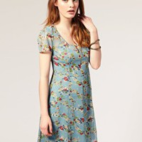 ASOS | ASOS Tea Dress in Spring Pansy Print at ASOS