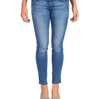 Flying Monkey - Side Stitched Ankle Zip Skinny Jeans