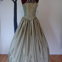 Prom green fairy queen formal summer wear dress