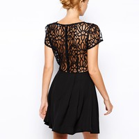 Love Skater Dress with Lace detail and Box Pleat Skirt
