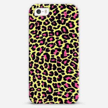 Acid Green Pink Pop Leopard iPhone 5s case by Organic Saturation | Casetify