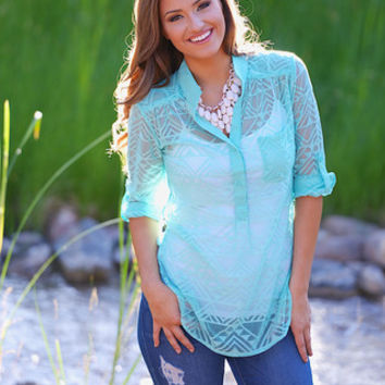 Great Expectations Top - Mint