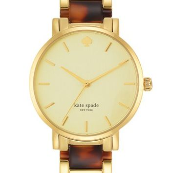 Women's kate spade new york 'gramercy' resin link bracelet watch, 34mm