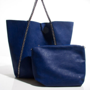 Goutelette Shopper Bag With Purse in Blue