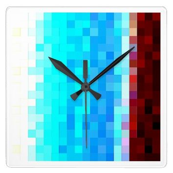 Pixels square clock