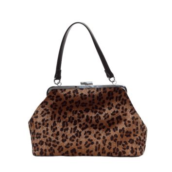 Put on your highest heels and get ready for a night on the town because here is our Leopard print Betsy Purse! This purse is just the right size to carry everything you need and fastens securely with a kisslock closure! It features a faux fur leopard outer