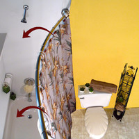 Rotator Rod Curved Shower Curtain Rod