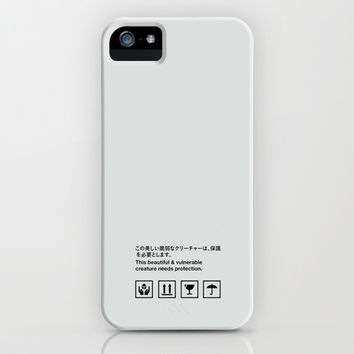 Handle with Care [White] iPhone & iPod Case by Half Moon Industries