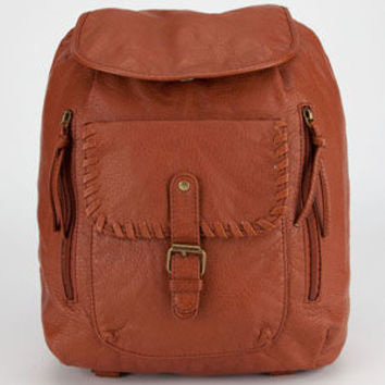 Under One Sky Whipstitch Backpack Cognac One Size For Women 23288540901