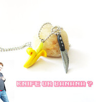 ToshO Knife or Banana Bestfriend Necklace's Polymer by ThekawaiiOD