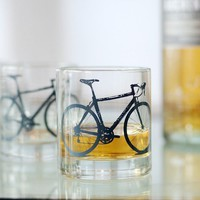 2 bicycle rocks glasses charcoal gray bike by vital on Etsy