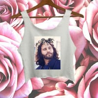 Jim Morrison Flower Crown Crop Top