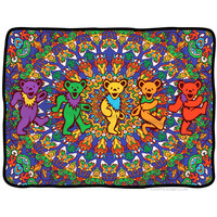 Grateful Dead - Bear Mandala Fleece Blanket on Sale for $29.99 at HippieShop.com
