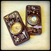 iPhone5 case iPhone 5 cover iPhone 4s Cases iPhone 4 unique iPhone cases bronze cute charms retro Pocket Watch custom samsung galaxy s3 case