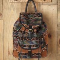 7 Chi Sari Pattern Backpack at Free People Clothing Boutique
